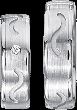 Freundschaftsringe 925 Silber mit echten Brillanten S54