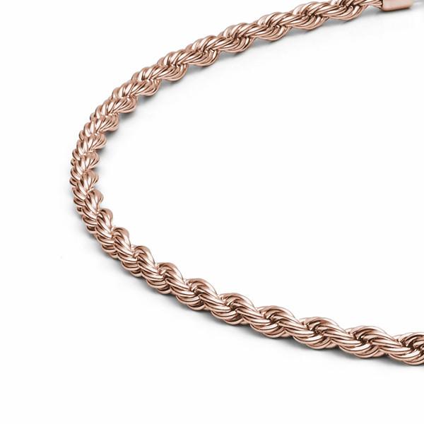 Halskette 4 mm stark aus Edelstahl rosegold von MONOMANIA