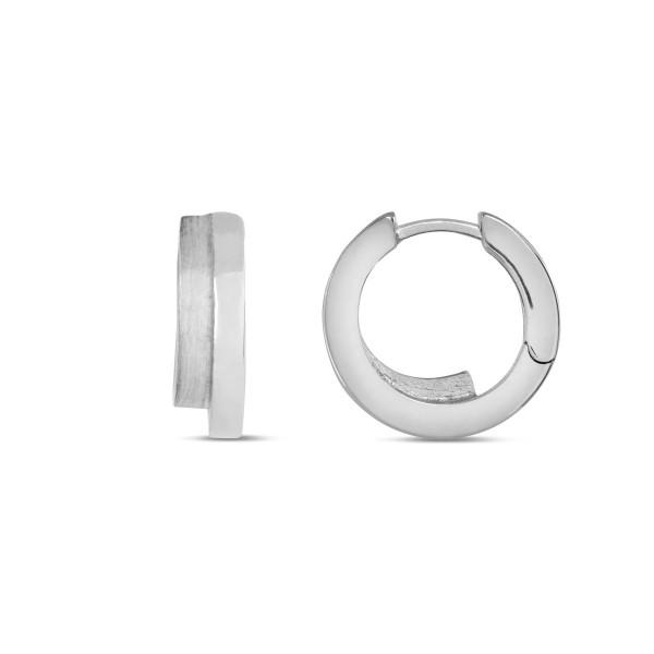 Creolen 925 Silber hochglanz poliert Durchmesser 14,5 mm