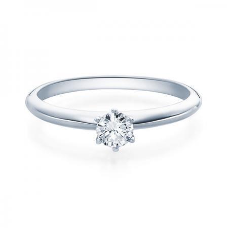 Verlobungsring Daphne 750 Weissgold ges. 0,25 ct. Brillanten
