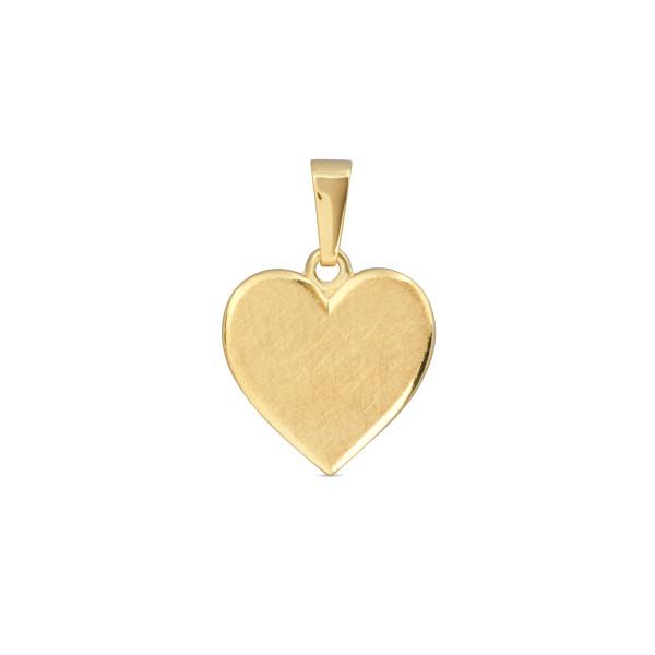 Anhänger 333 Gold Herz 12,8 x 12,3 mm - gravierbar