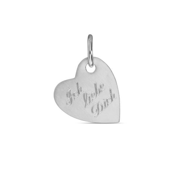 Anhänger 925 Silber Herz Ich liebe Dich - 16 x 18 mm