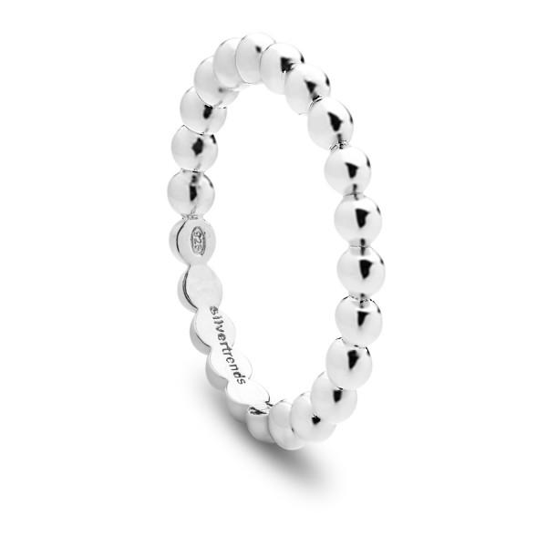 Damenring Kugelring in Silber Glamour Dots - Nana Kay