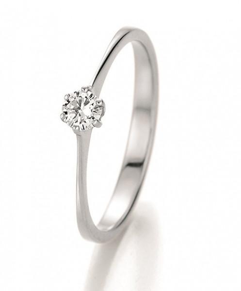 Verlobungsring 585 Weissgold 0,20 ct. Brillant