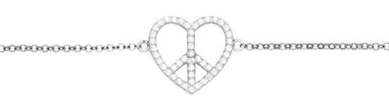 Silver Trends Armkette Love Peace - ST1453
