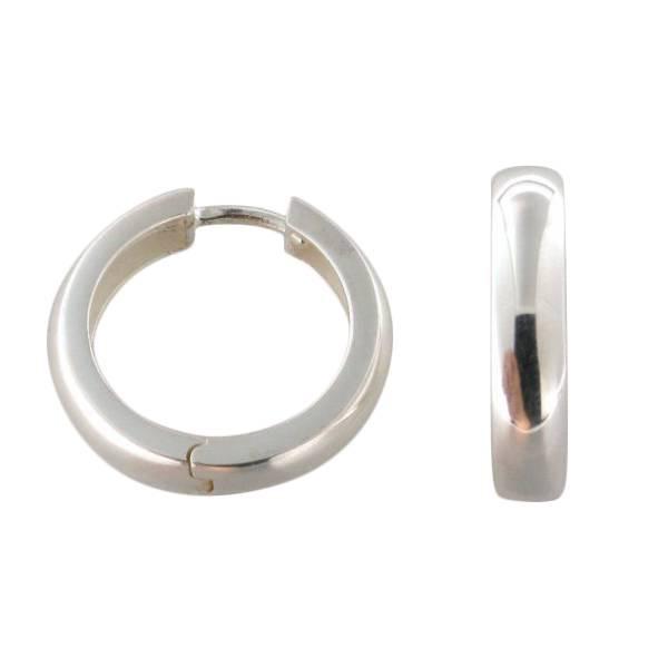 Creolen 925 Silber abgerundet 2,5 mm stark