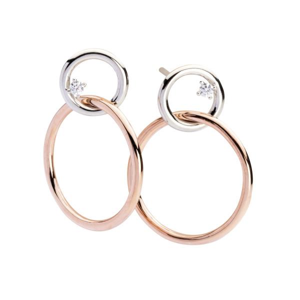 Ohrstecker mit unterschiedlichen Ringen rotgold - Silver Trends