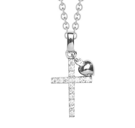 Silver Trends Anhaenger Kreuz mit Halskette - ST765