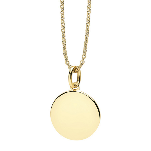 Halskette mit rundem Anhänger goldfarben - Nana Kay