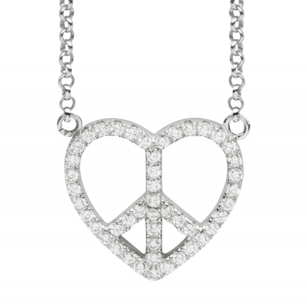 Silver Trends Anhaenger Collier Peace Love - ST1458