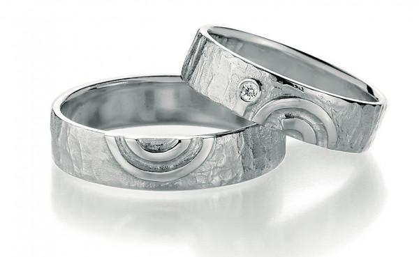 Freundschaftsringe mit Kreis Motiv Damenring mit Brillant 925 Silber