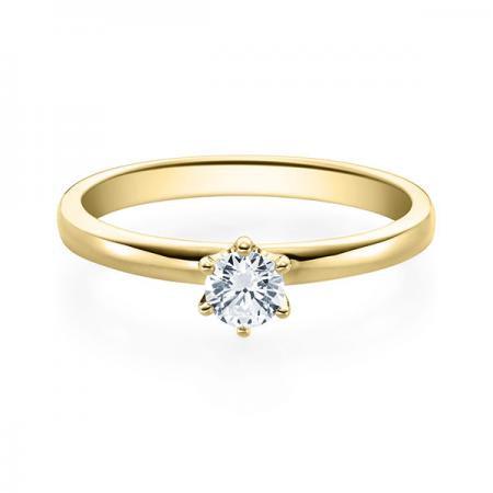 Verlobungsring 585 Gelbgold 0,25 ct. Brillant