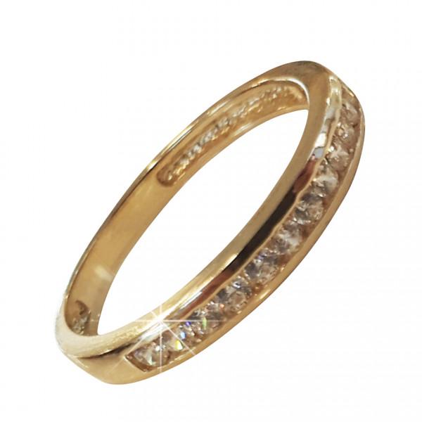 Damenring 585 Gold mit Zirkonia-Steinen