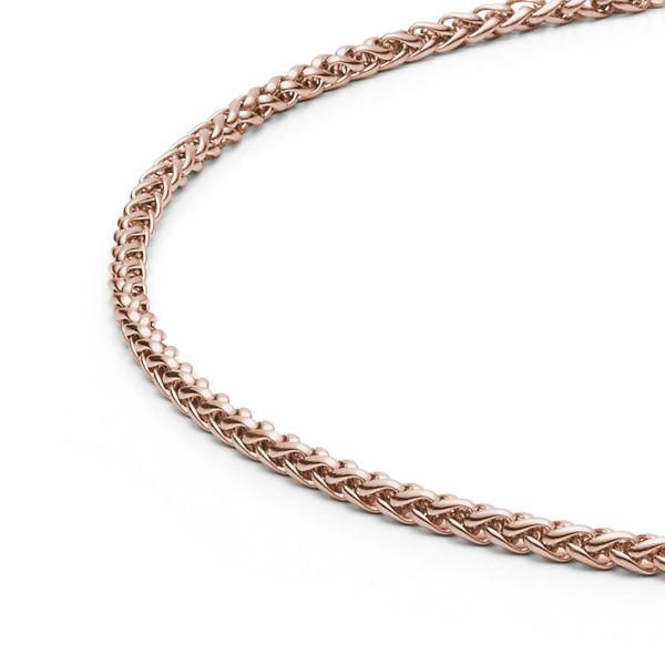 Halskette 3,0 mm in Edelstahl rosegold farben von MONOMANIA