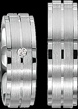 Freundschaftsringe 925 Silber mit echten Brillanten S43