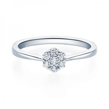 Verlobungsring Hazel 750 Weissgold ges. 0,15 ct. Brillanten