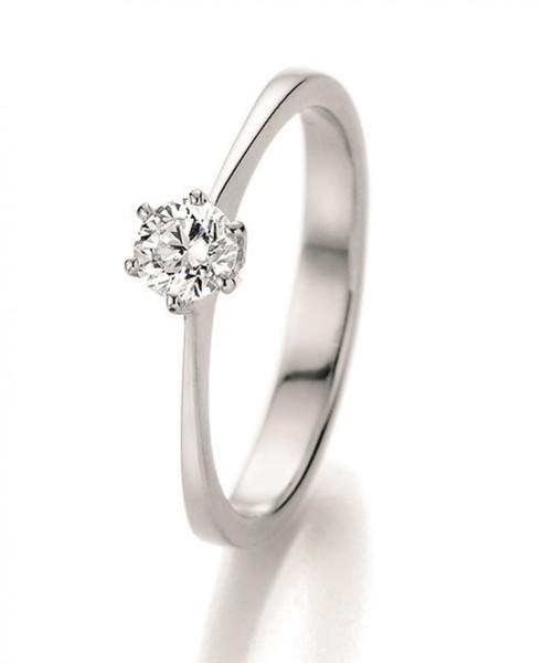 Verlobungsring 585 Weissgold 0,25 ct. Brillant