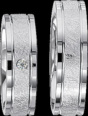 Freundschaftsringe 925 Silber mit echten Brillanten S52