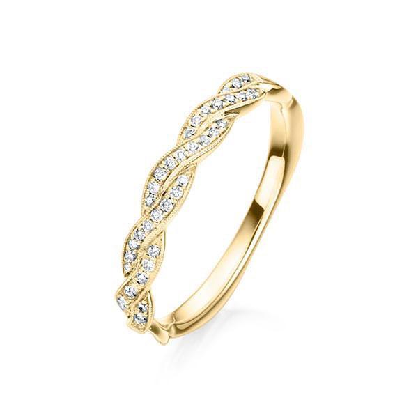 Verlobungsring Memoirering 750 Gold - 0,11 Karat Brillanten
