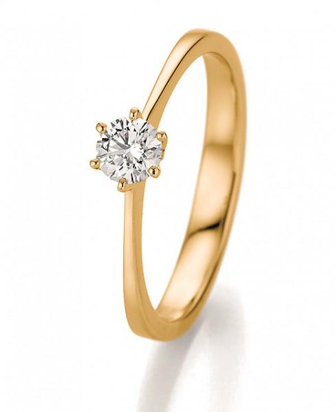 Verlobungsring 585 Gelbgold 0,33 ct. Brillant