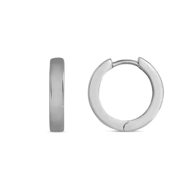 Creolen 925 Silber poliert schlicht 15 x 3,1 mm