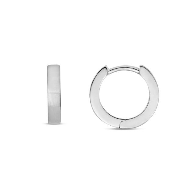 Creolen 925 Silber matt 15 x 3 mm klassiches Design