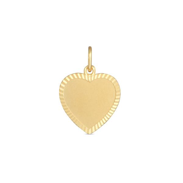 Kinder Anhänger 333 Gold Herz geriffelter Rahmen