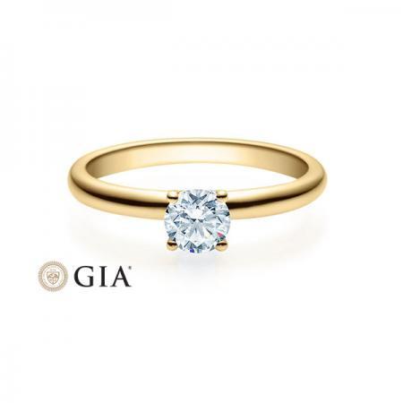 Verlobungsring Indira 585 Gold - 0,5 Karat Brillant in 4-Krappenfassung