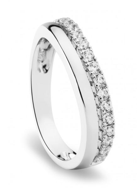 Damen Ring mit Zirkonia Steinchen Simply Essentials 925 Silber rhodiniert - ST998 von Nana Kay