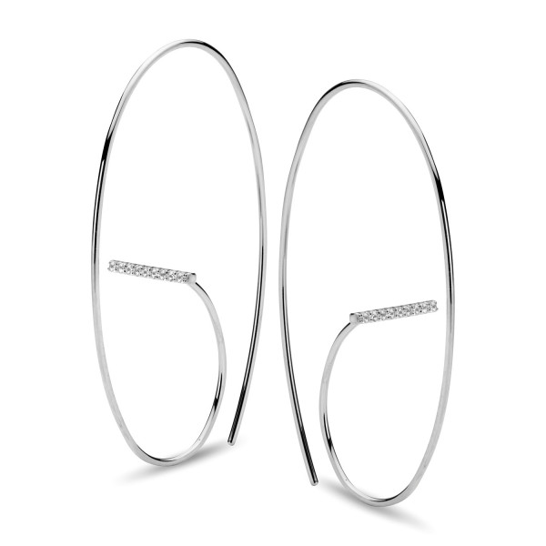 Ohrringe Silber mit handgefassten Zirkonia - Silver Trends