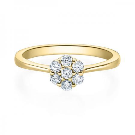 Verlobungsring Hazel 750 Gelbgold ges. 0,25 ct. Brillanten