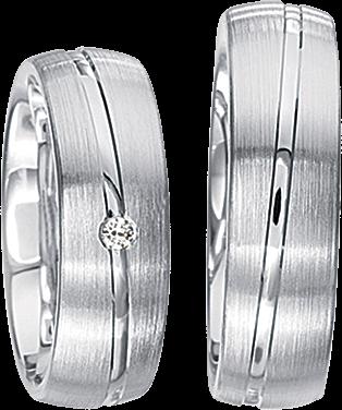 Freundschaftsringe 925 Silber mit echten Brillanten S44