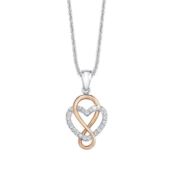 Halskette mit Anhänger Herz und Eternity Zeichen von s.Oliver