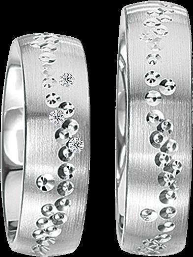 Freundschaftsringe 925 Silber mit echten Brillanten S41