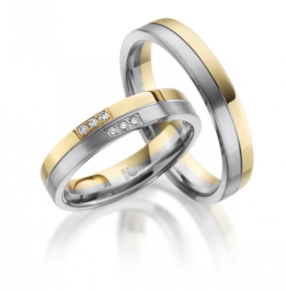 Trauringe 585 Gelbgold 600 PLATIN Eheringe Hochzeitsringe