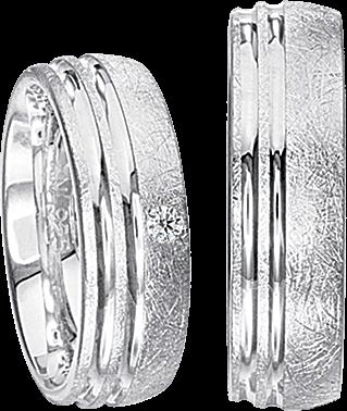 Freundschaftsringe 925 Silber mit echten Brillanten S56