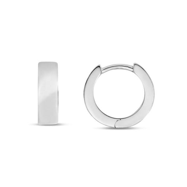 Creolen 925 Silber 4 mm breit hochglanz poliert