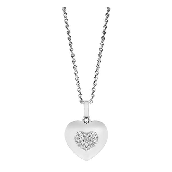 Halskette mit Zirkonia Herz Anhänger - Nana Kay