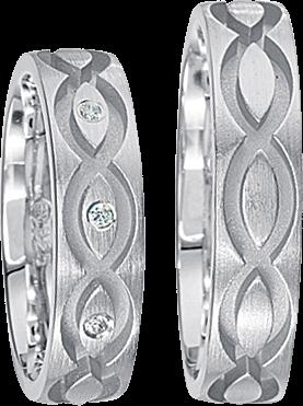 Freundschaftsringe 925 Silber mit echten Brillanten S40