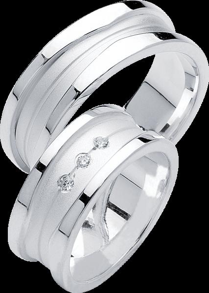 Freundschaftsringe 925 Silber mit Zirkonia S29
