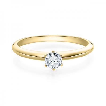 Verlobungsring Daphne 585 Gelbgold ges. 0,25 ct. Brillanten