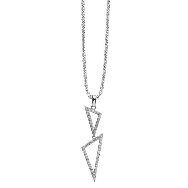 Anhänger Silver Edge Silber mit Zirkonia und Halskette