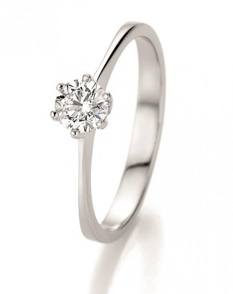 Verlobungsring 585 Weissgold 0,50 ct. Brillant