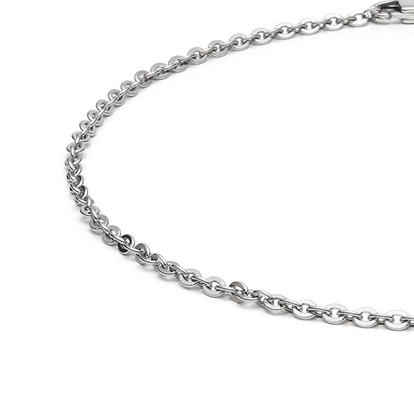 Halskette Collier Ankerkette 3,0 mm oval flach in Edelstahl MONOMANIA