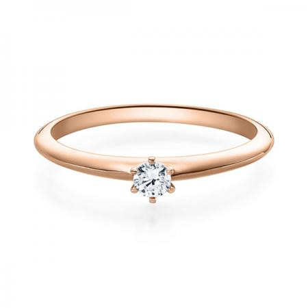 Verlobungsring Daphne 585 Rotgold ges. 0,1 ct. Brillanten