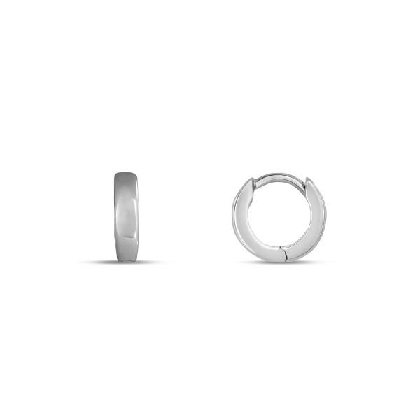 Creolen 925 Silber klassisches Design glänzend poliert 2,7 mm breit