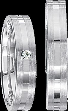 Freundschaftsringe 925 Silber mit echten Brillanten S47