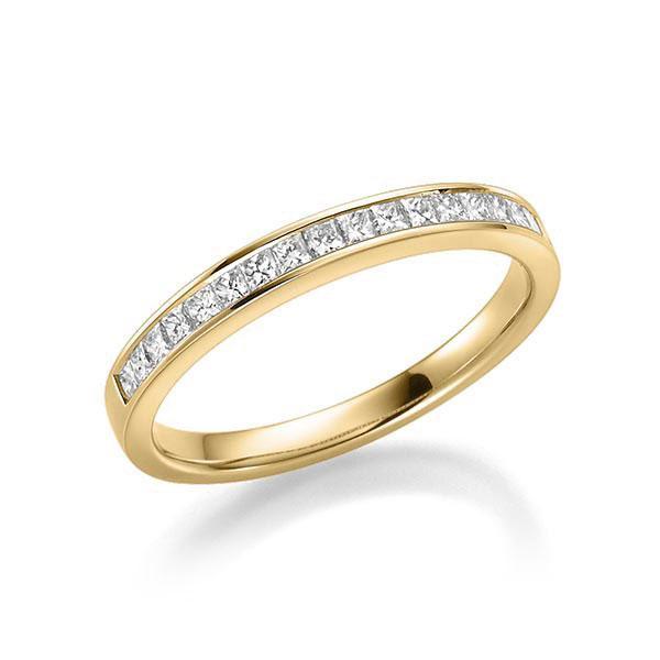 Memoirering 750 Gold - Diamanten gesamt 0,38 Karat