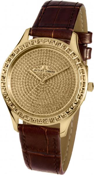 Jacques Lemans Damenuhr 1-1841ZI Gold braun
