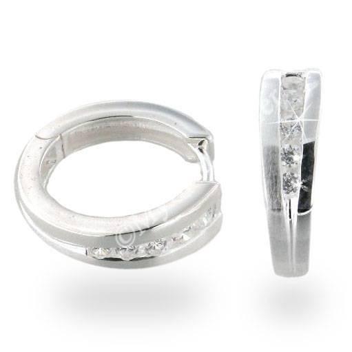 Ohrringe 925 Silber rhodiniert mit Zirkonia